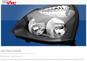 OPTICA VIC Clio II Fase 3 (03-06) FONDO NEGRO